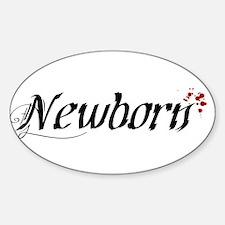 Newborn Oval Decal