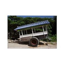 Blue Cart Rectangle Magnet