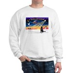 XmasSunrise/Flat Coat Retriev Sweatshirt