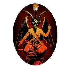 Satanic Goat Oval Ornament