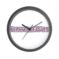 That One Won Wall Clock