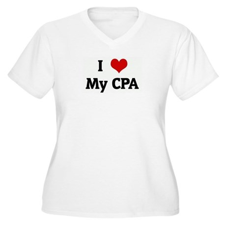 I Love My CPA Women's Plus Size V-Neck T-Shirt