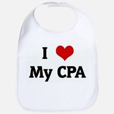 I Love My CPA Bib