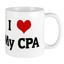 I Love My CPA Small Mug