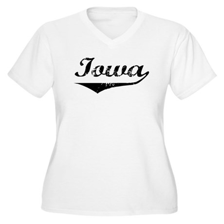Iowa Women's Plus Size V-Neck T-Shirt
