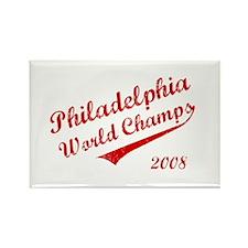 Philadelphia World Champs 2008 Rectangle Magnet