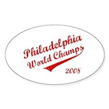 Philadelphia World Champs 2008 Oval Decal