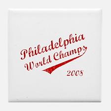 Philadelphia World Champs 2008 Tile Coaster