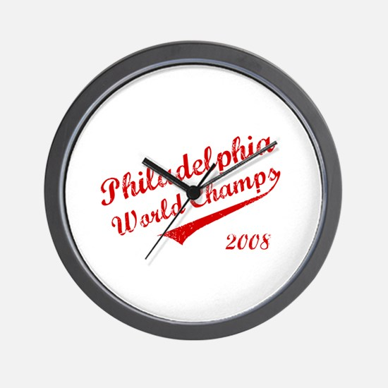 Philadelphia World Champs 2008 Wall Clock