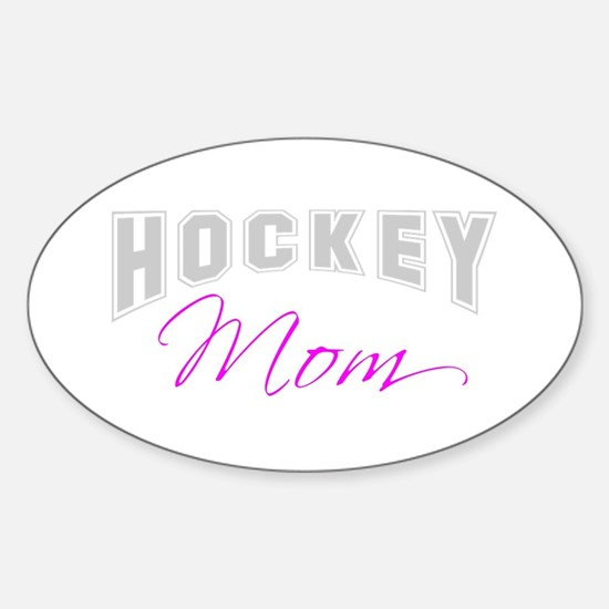 Hockey Mom (grey) Oval Decal