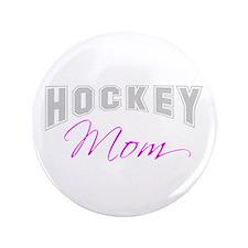"""Hockey Mom (grey) 3.5"""" Button"""