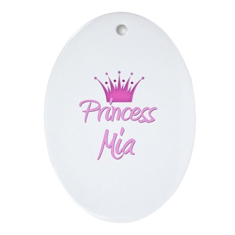 Princess Mia Oval Ornament