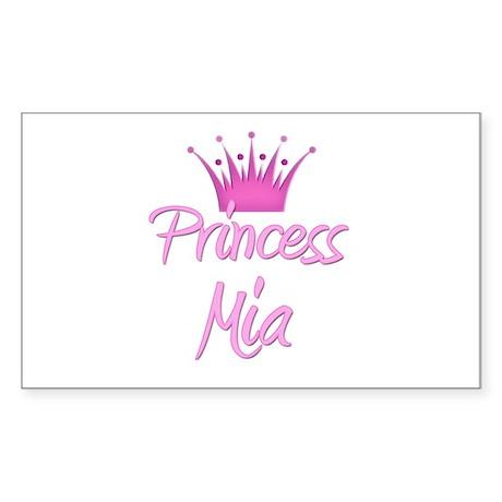 Princess Mia Rectangle Sticker
