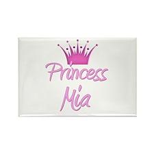 Princess Mia Rectangle Magnet