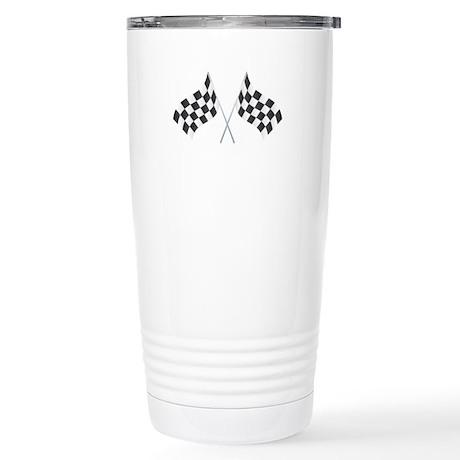 Checkered Flag Stainless Steel Travel Mug