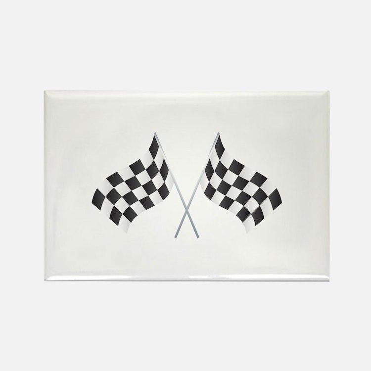 Checkered Flag Rectangle Magnet (100 pack)