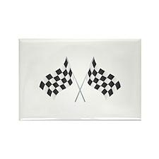 Checkered Flag Rectangle Magnet