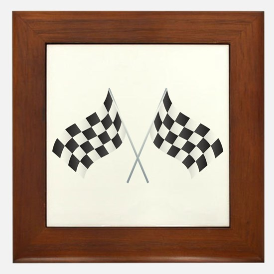 Checkered Flag Framed Tile