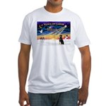 XmasSunrise/Dobbie #2 Fitted T-Shirt