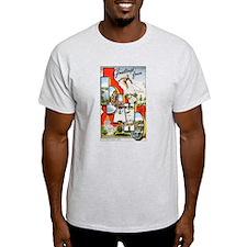 Idaho Greetings (Front) Ash Grey T-Shirt