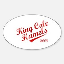 King Cole Hamels 2008 Oval Decal