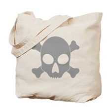Crossbones Skull Tote Bag