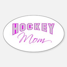 Hockey Mom (pink) Oval Decal