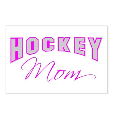 Hockey Mom (pink) Postcards (Package of 8)