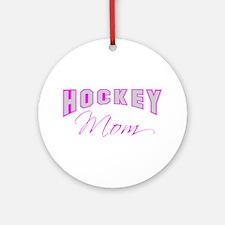 Hockey Mom (pink) Ornament (Round)