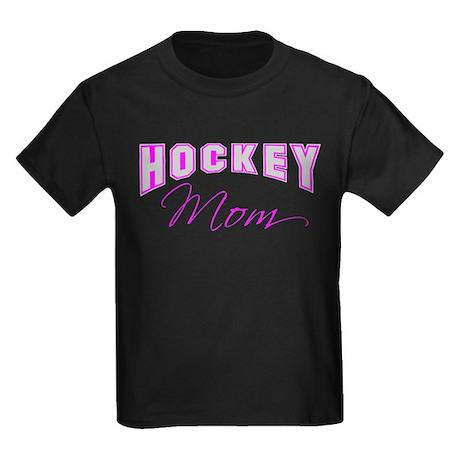 Hockey Mom (pink) Kids Dark T-Shirt