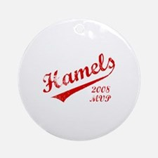 Hamels 2008 MVP Ornament (Round)