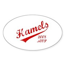 Hamels 2008 MVP Oval Decal