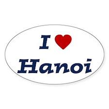 I HEART HANOI Oval Decal