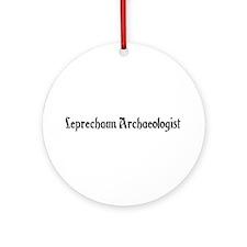 Leprechaun Archaeologist Ornament (Round)
