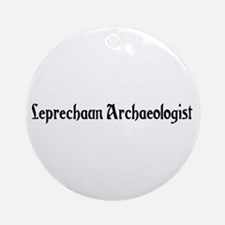 Leprechaun Archaeologist Ornament (Round)