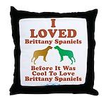 Brittany Spaniel Throw Pillow