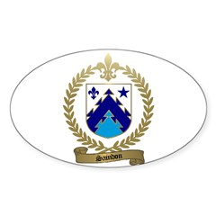 SAINDON Family Crest Oval Decal