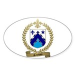 SAINDON Family Crest Oval Sticker