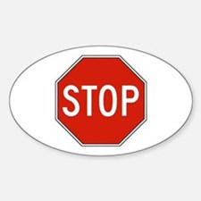 Stop Sign Oval Decal