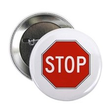 """Stop Sign 2.25"""" Button"""
