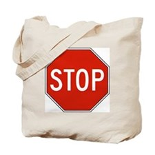 Stop Sign Tote Bag