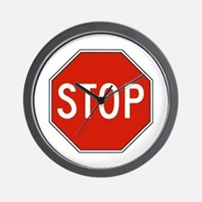 Stop Sign Wall Clock