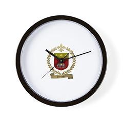 SAULNIER Family Crest Wall Clock