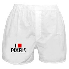 Web Humor Love Pixels Boxer Shorts