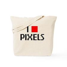 Web Humor Love Pixels Tote Bag