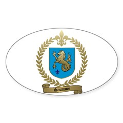 SAUMURE Family Crest Oval Decal