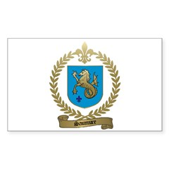 SAUMURE Family Crest Rectangle Decal
