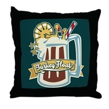 Turkey Float Throw Pillow