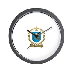 SAUMURE Family Crest Wall Clock