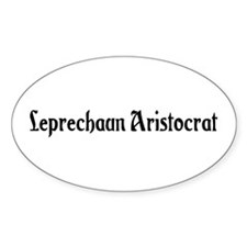 Leprechaun Aristocrat Oval Decal